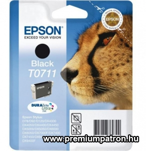 T0711 BLACK 7,4ML EREDETI EPSON TINTAPATRON